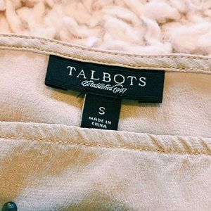 Talbots Tops - Talbots 100% Silk Embellished Cream Colored Tee